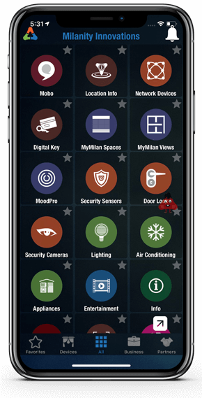 MyMilan App Home Page